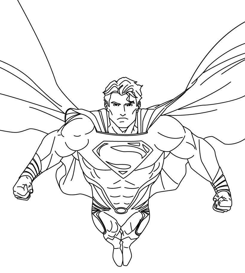 Gambar Mewarnai Superman Untuk Anak Tk Dan Paud Dengan Gambar