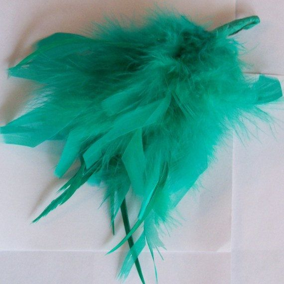 Feathered Hair Ornament for Bridesmaid by YoursOccasionally, $8.00