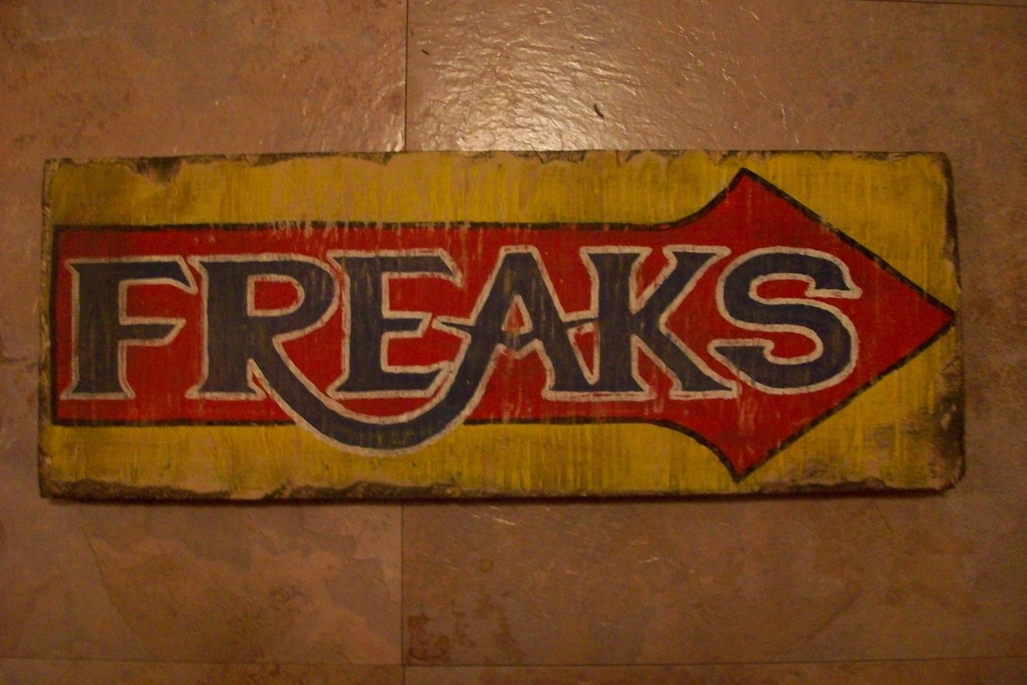 Vintage Sideshow Signs Join Circus