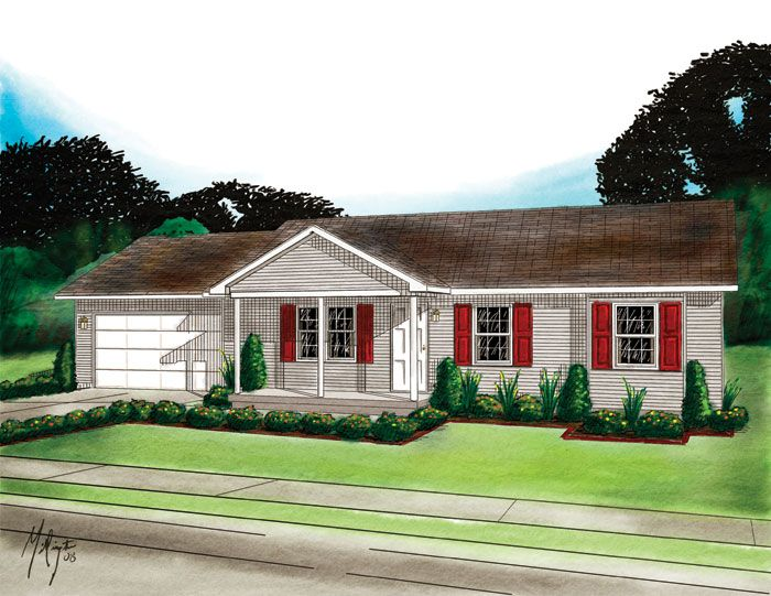 Modular Home The Coventry 3 Bedroom 1 Bath 1173 Sq Ft Ranch Modular Homes House Styles House Design