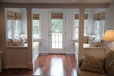Vestibule w/storage bench on 1 side, closet & table on the