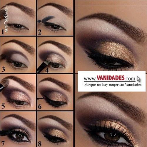 gold smoky eye! revista vanidades