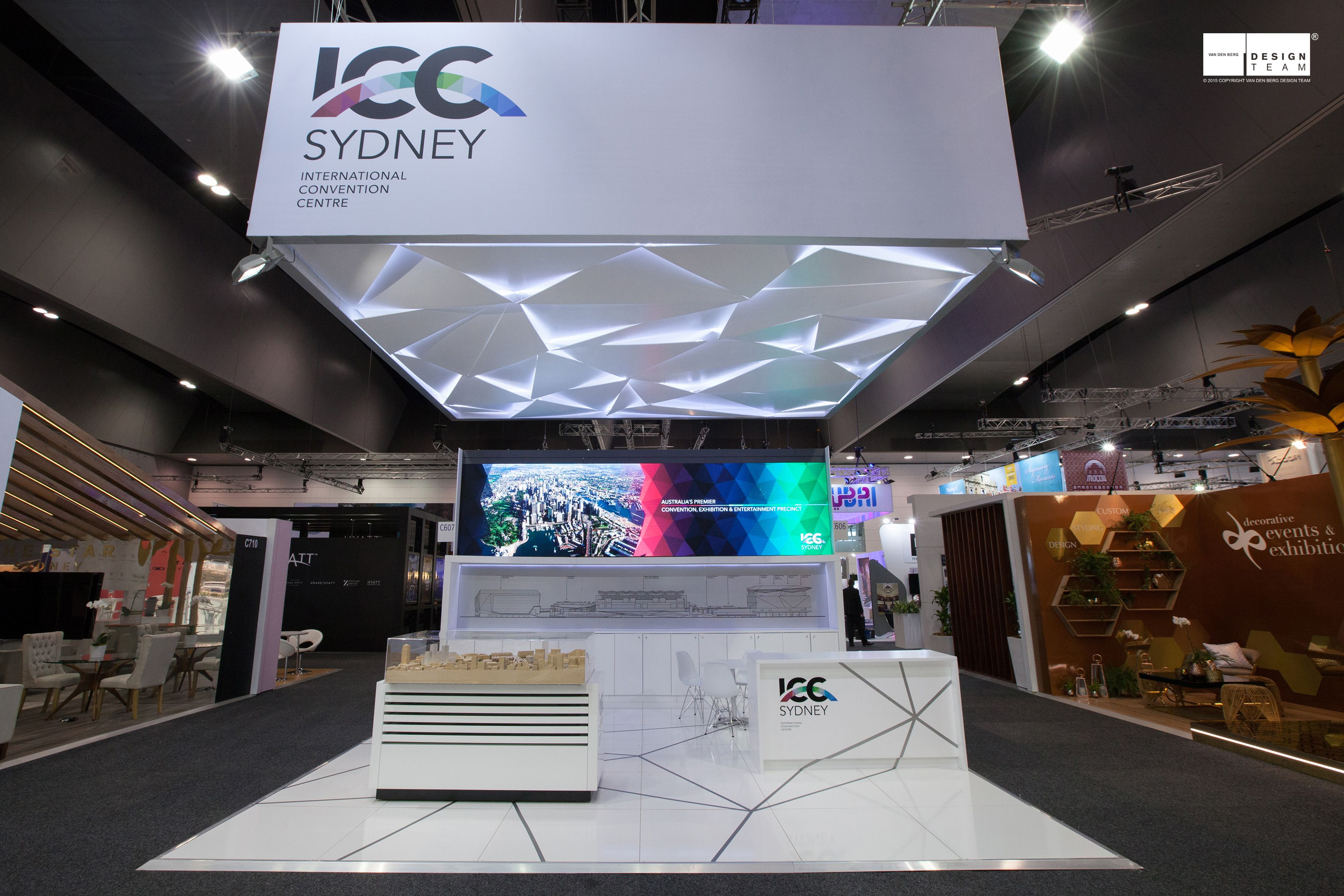 Exhibition Stand Ceiling : Design team were successful on the tender to and