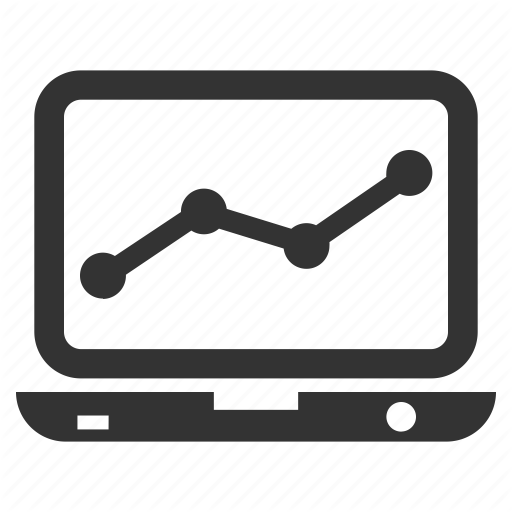 Analysis Line Chart Marketing Monitor Icon Download On Iconfinder Icon Analysis Chart