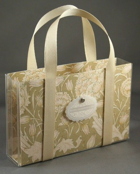 paper-lined plastic card box purse - great gift idea! Papertrey Ink tutorial