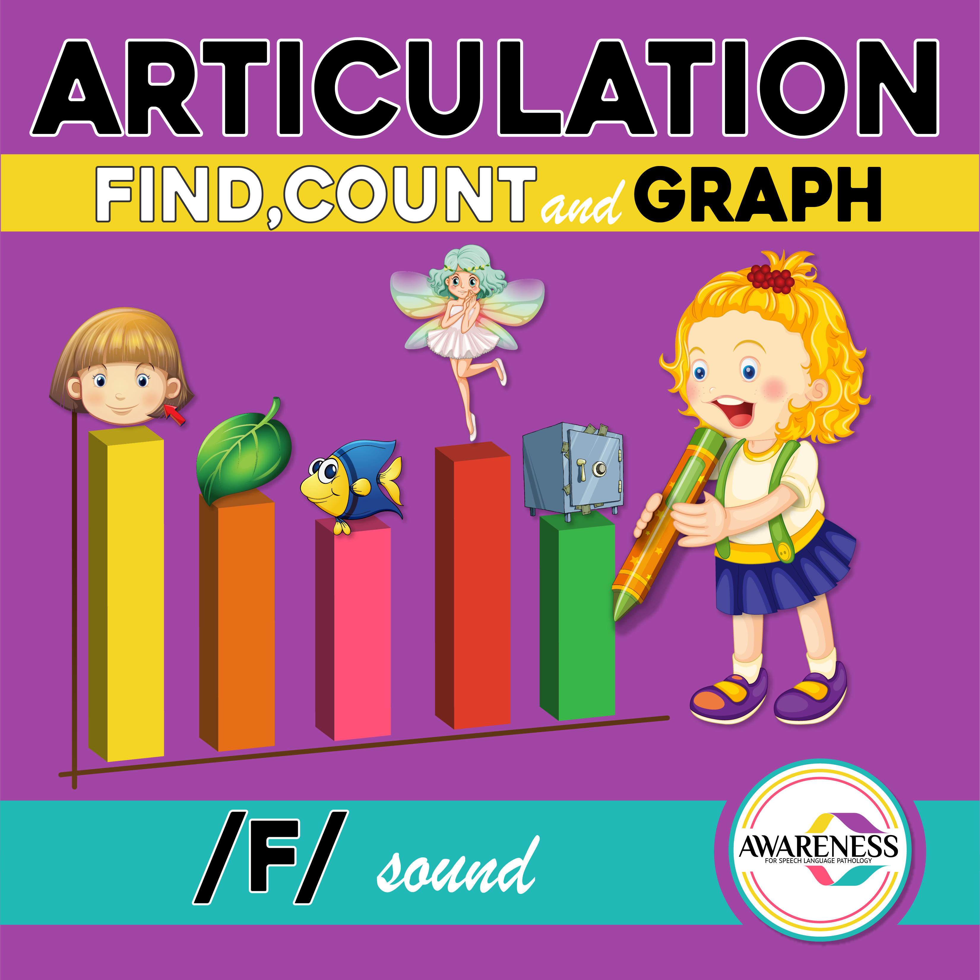 F Articulation Activity F Sound Count Amp Graph No Prep