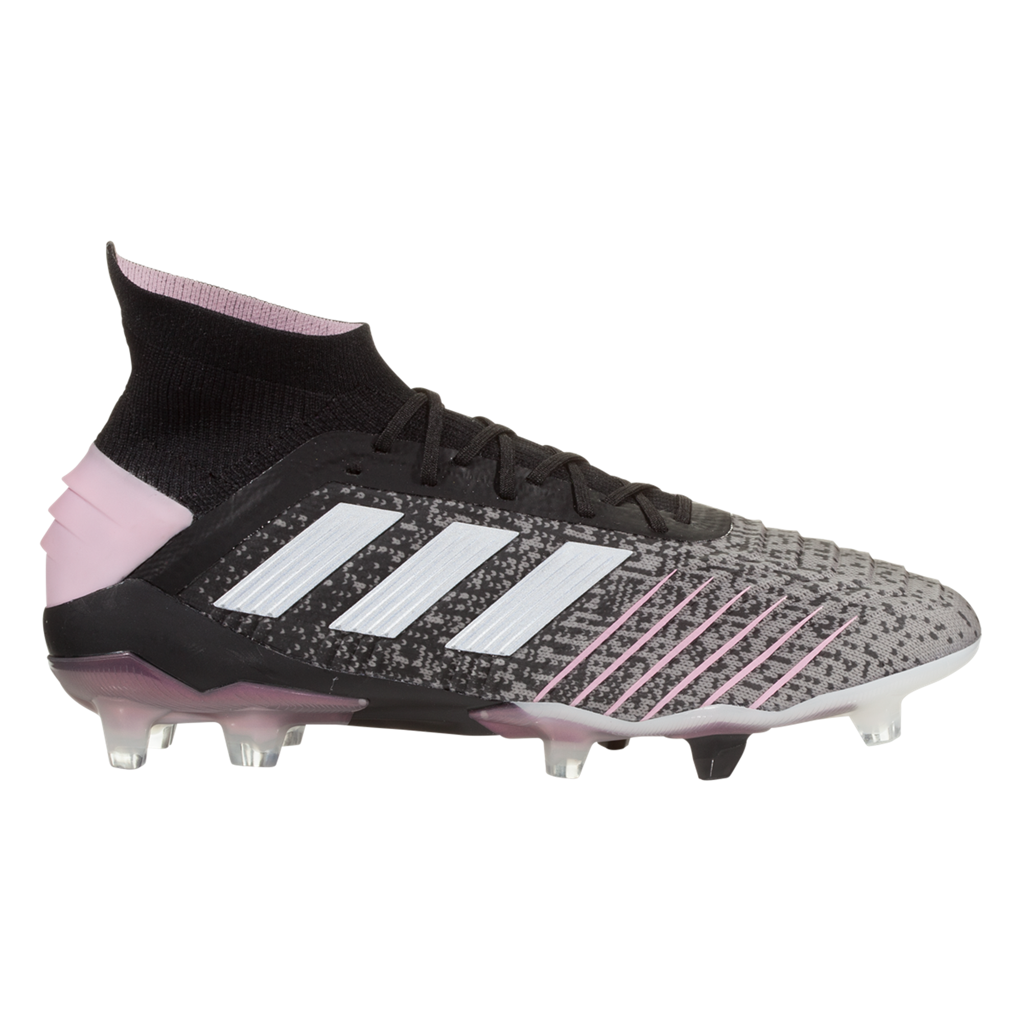 Adidas Predator 19 1 Fg Women S Soccer Cleat Black Grey Pink Womens Soccer Cleats Best Soccer Cleats Cool Football Boots
