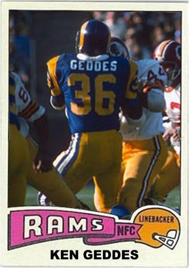 Ken Geddes Los Angeles Rams Nfl Football Teams Topps Football Cards Nfl Players