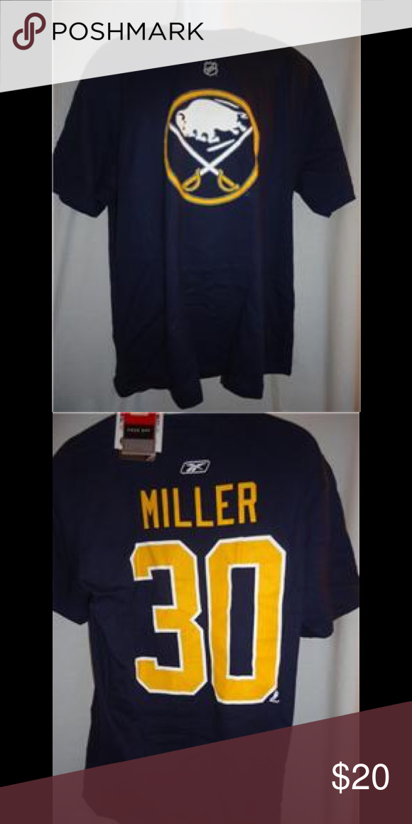 824a580e9e1 Reebok NHL Buffalo Sabres Ryan Miller Player Shirt Reebok NHL Buffalo  Sabres Ryan Miller Player T-Shirt Size: X-Large Material: 100% Cotton Reebok  Shirts ...
