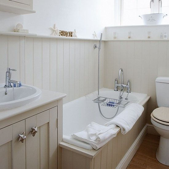 Panelled Bathroom | Small Bathroom Ideas | PHOTO GALLERY | Country Homes U0026  Interiors | Housetohome.co.uk