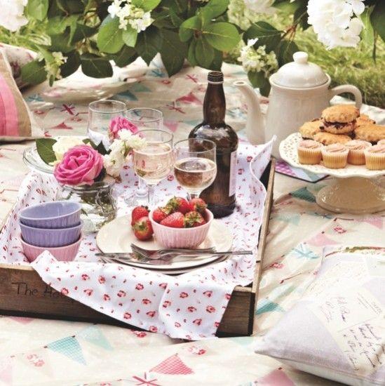 Summer garden tea