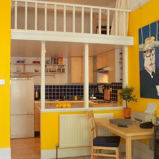 tiny interior ideas | studio design sectioning off the kitchen area ...