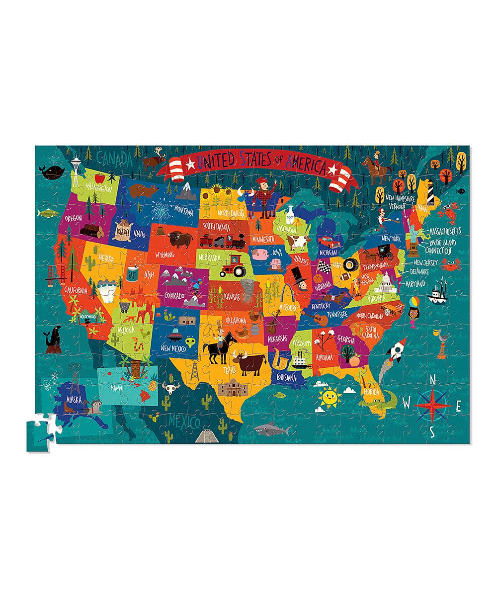 Look at this Crocodile Creek USA Map Poster 200Piece Puzzle on