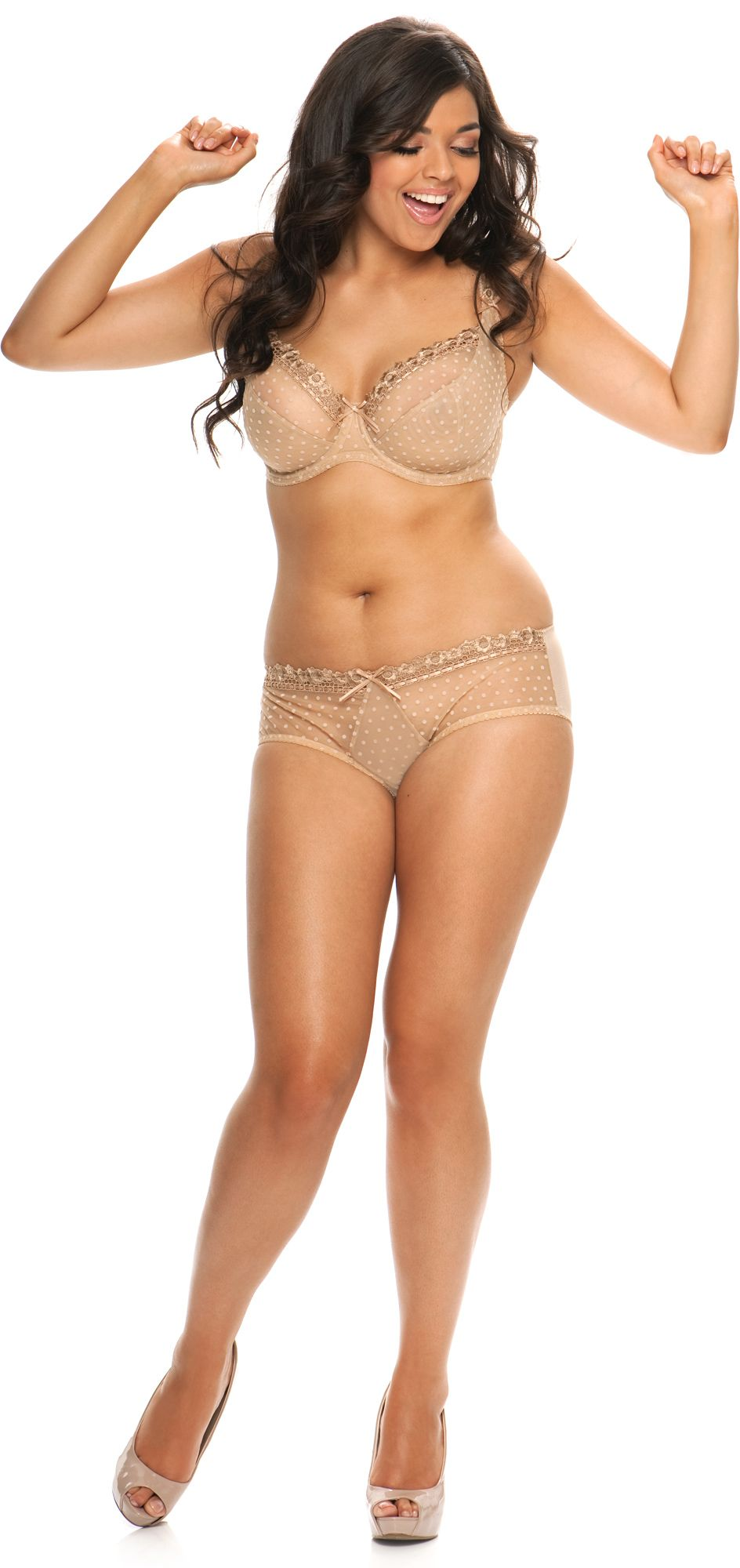 b2f4365b57992 Curvy Kate Princess balcony bra in beige