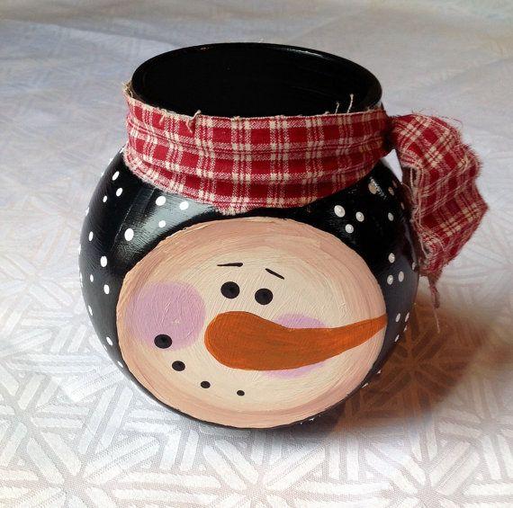 CLEARANCE Snowman Jar Snowman Decor от PeppermintDreamland - christmas clearance decor