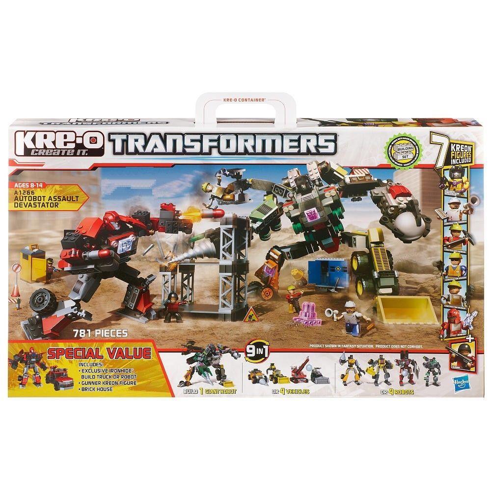 NIB Hasbro Kre-O Transformers Autobot Assault Devastator- 781 Piece Set #Hasbro