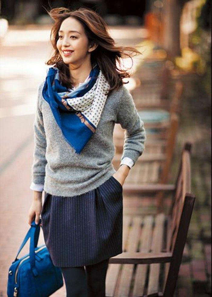 Comment porter une écharpe, les nouvelles tendances de printemps-été ... c5fef115973