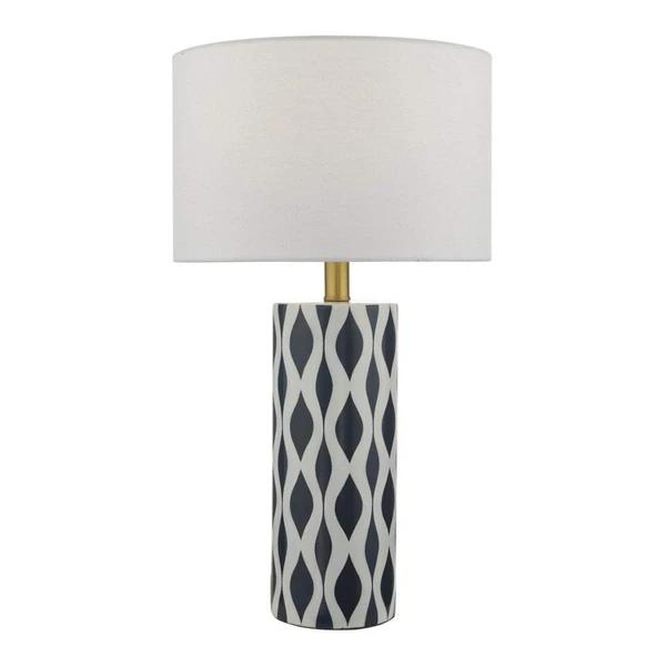Weylin Blue White Glazed Ceramic Patterned Table Lamp With Shade Stylish Table Lamps Ceramic Table Lamps Blue Table Lamp