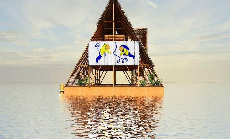 Casas em Makoko, Nigéria. por Kunle Adeyemi