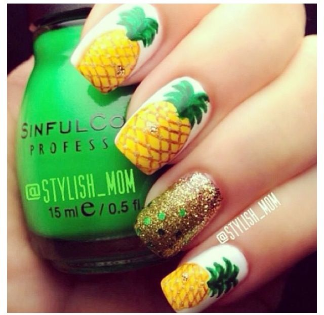 Do you love styling your nails with the amazing pineapple nail art designs?  Well if yes then get ready because in this post we will be talking about  the ... - Pineapple #nail #design #art Nail Art Pinterest Pineapple