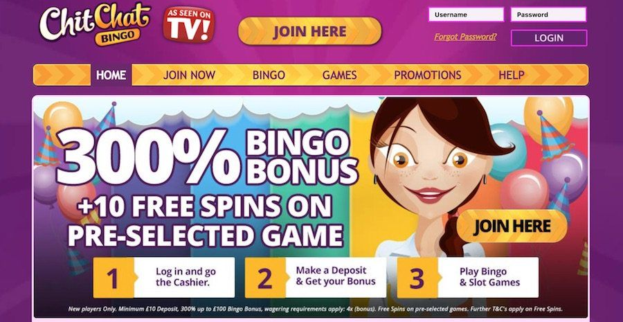 Chit chat bingo is a highly rated mobile bingo site where
