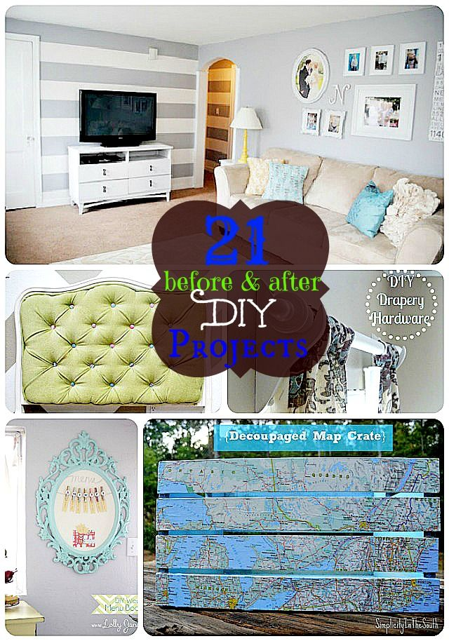 21 Before And After Diy Project Ideas Diy Diy Projects Diy