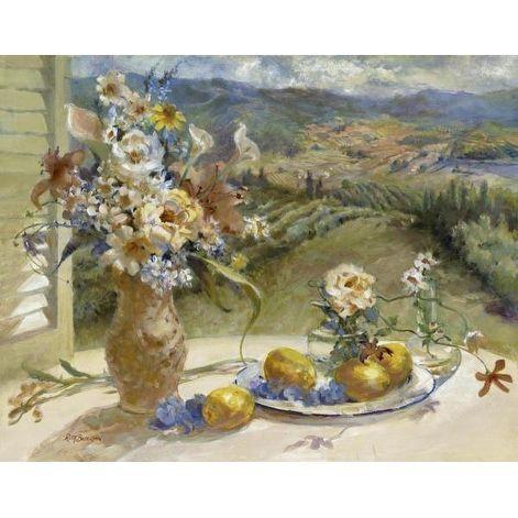 Tuscany Lemons by Ruth Baderian Cuisine Art Print