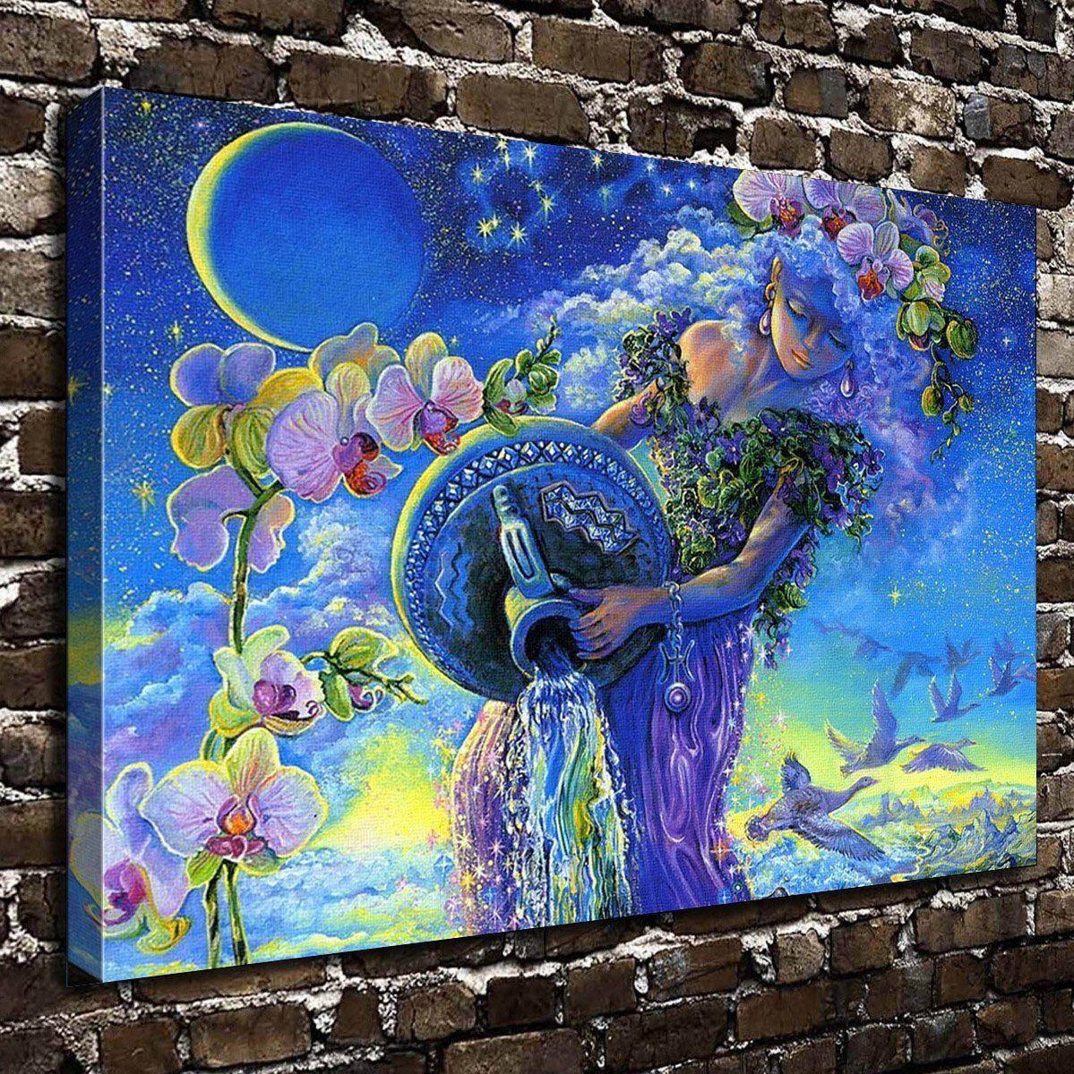 Colorsforu wall art painting aquarius prints