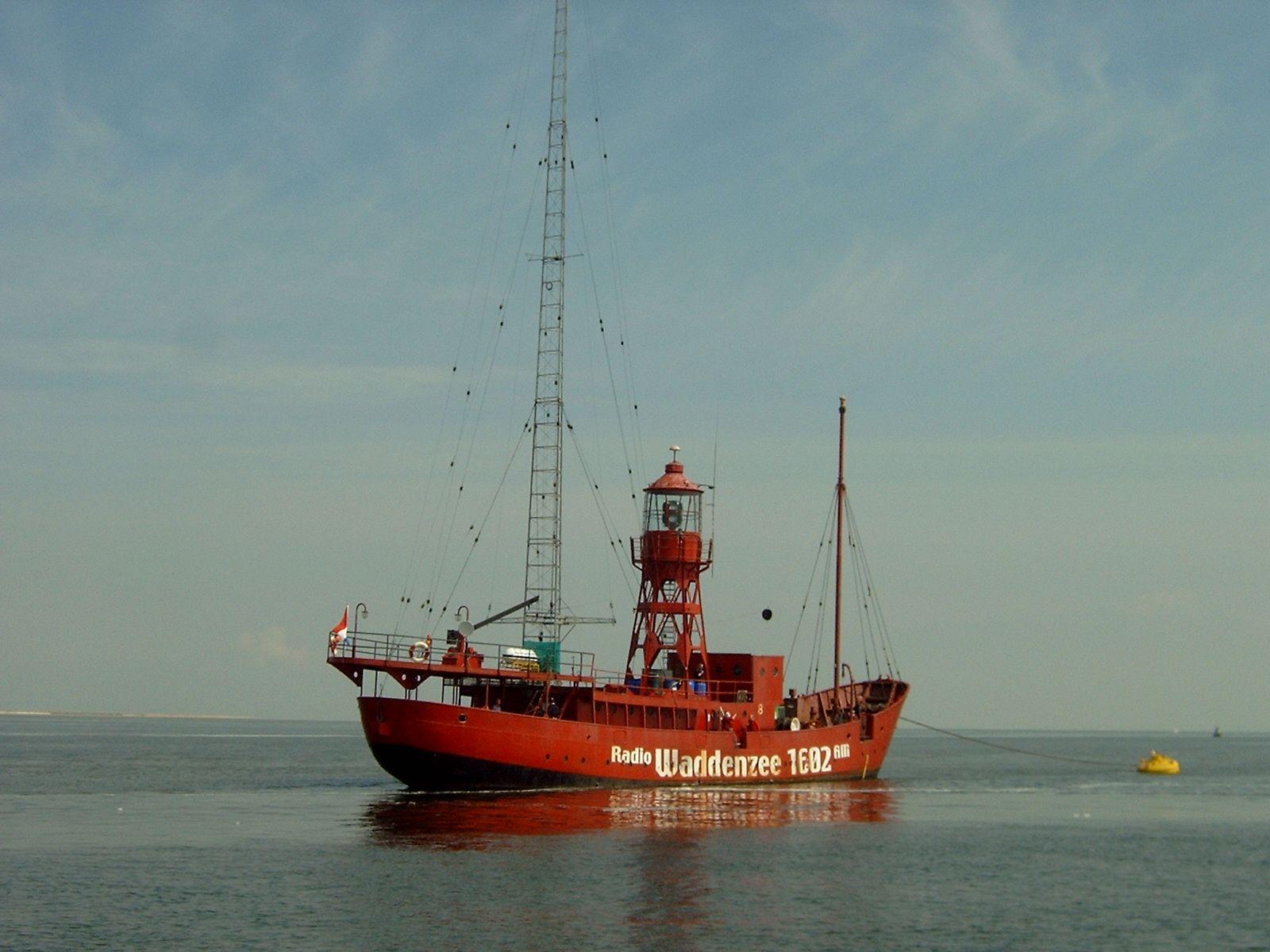 "Former lightship now ""Radio Ship"""