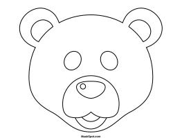 Polar Bear Mask Template Bear Mask Bear Mask Template Animal Crafts Preschool
