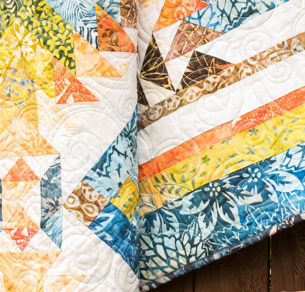 Rise 'n Shine Quilt   Fabrics and Patterns : white batik quilt fabric - Adamdwight.com