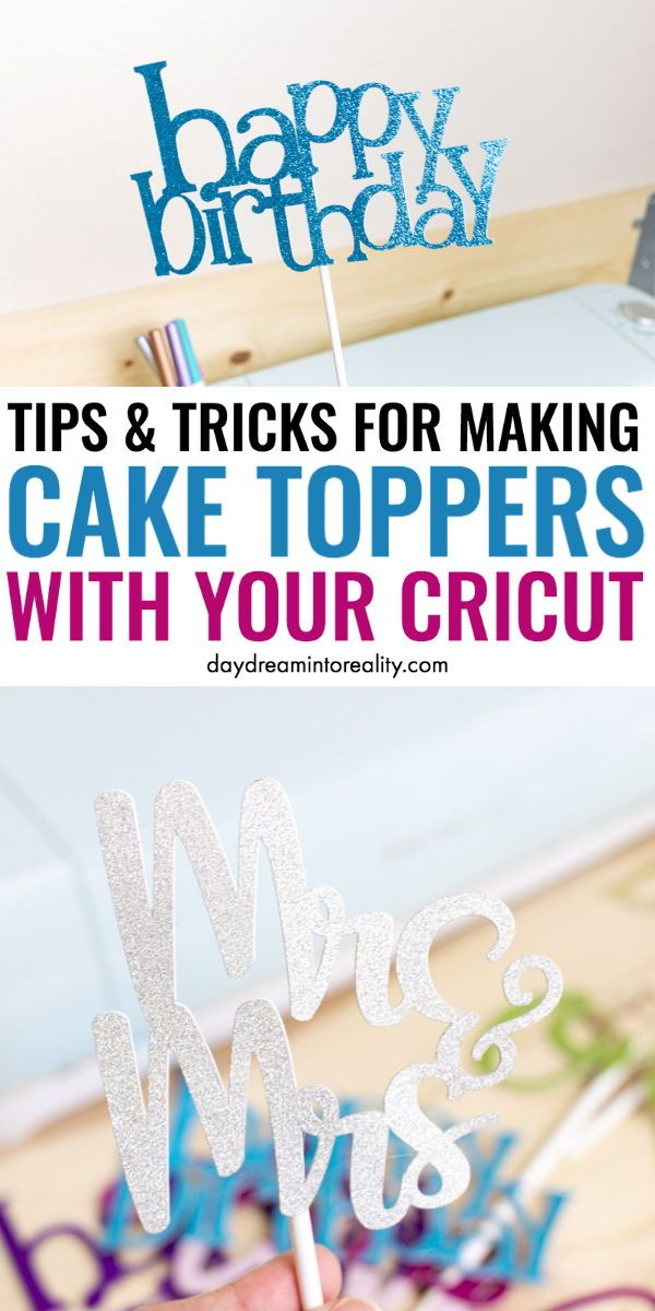 Make Cake Toppers With Cricut | Free SVG Templates