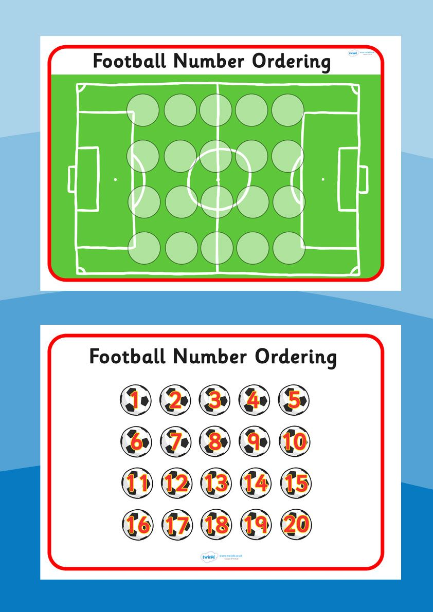 Football/World Cup- Football Number Ordering | Sports | Pinterest ...