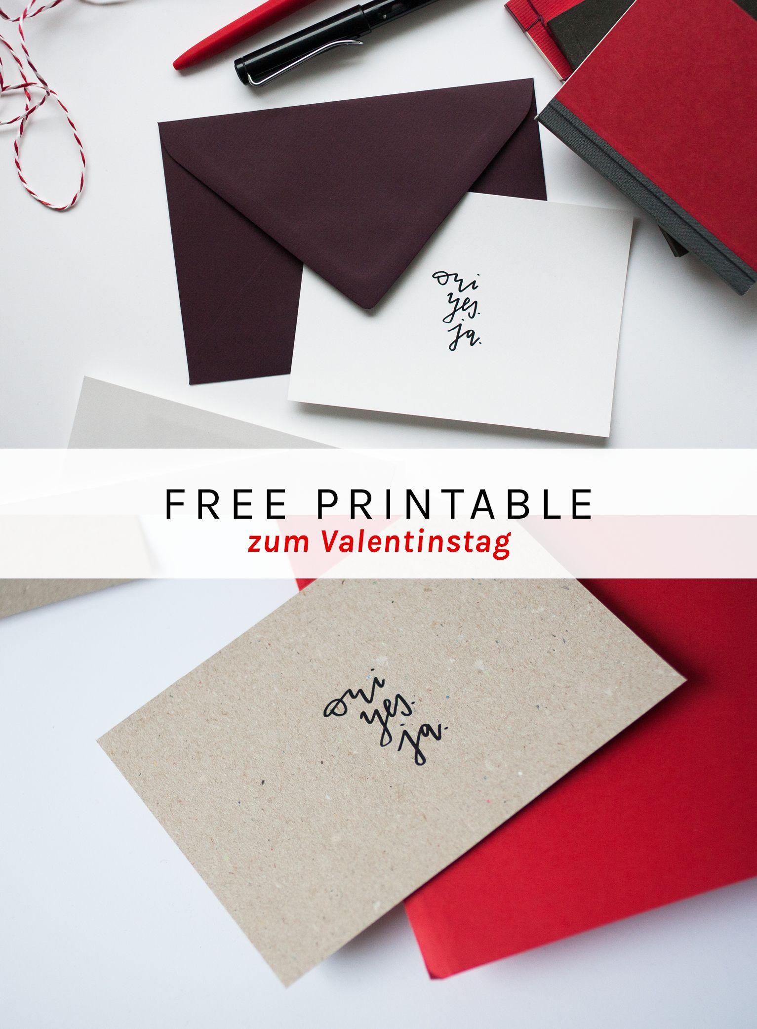 valentinstag karte im handletterig stil zum ausdrucken