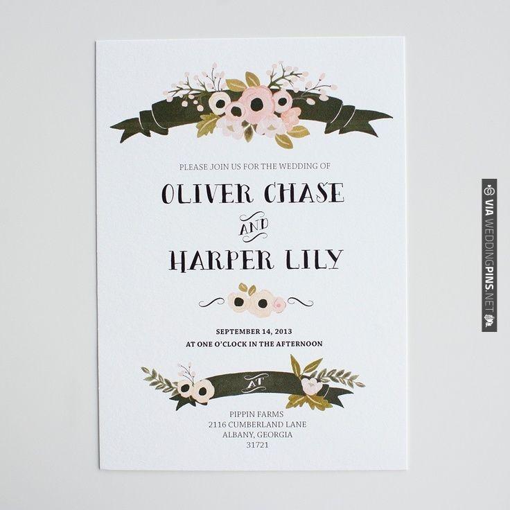 Wedding Chicks Free Invitations: The Sophia Invitation Suite Wedding Invitations