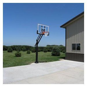 "Pro Dunk Silver In-ground Adjustable Basketball Goal Hoop with 54"" Glass Backboard System for Outdoor Basketball Courts (Misc.) http://www.amazon.com/dp/B000H2V48I/?tag=goandtalk-20 B000H2V48I"