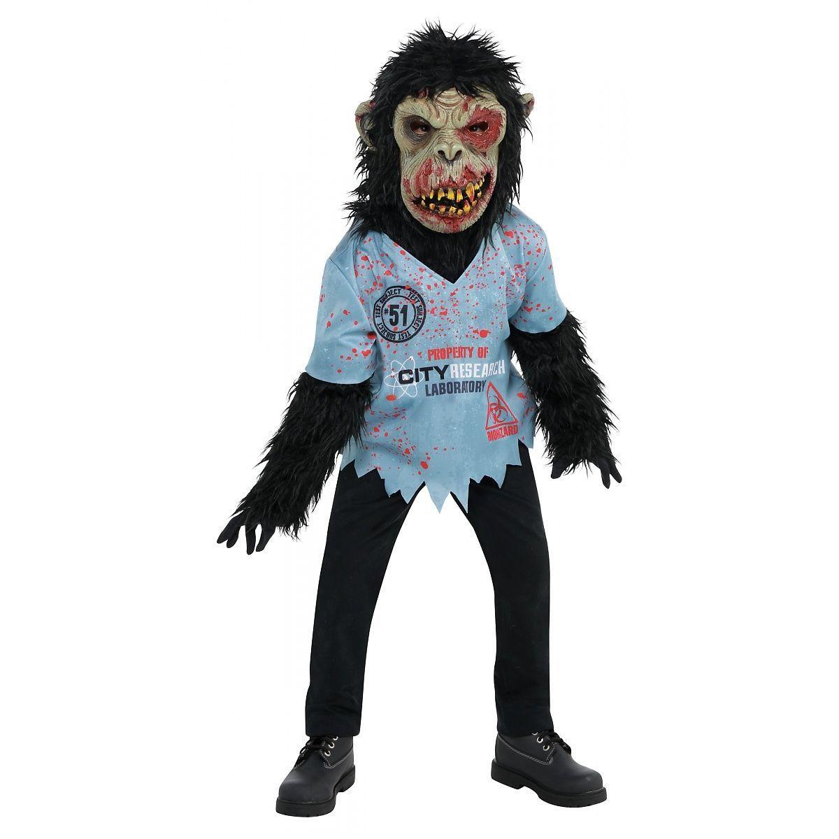 New Zombie Chimp Mask Halloween Accessory