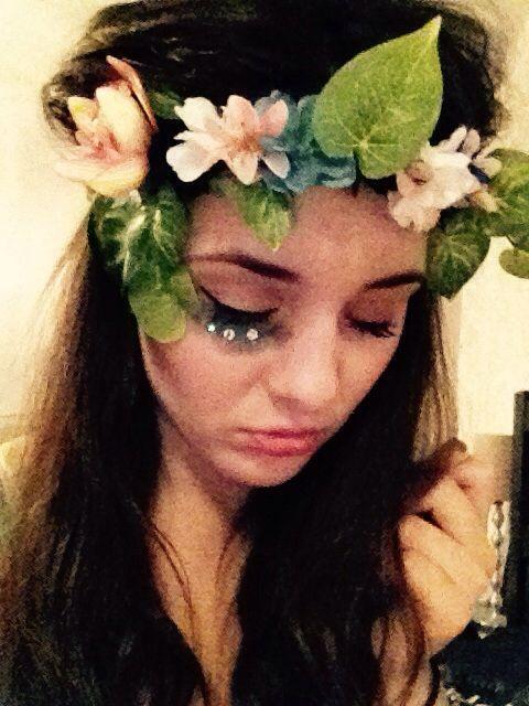 DIY Mother Earth/Nature flower crown & makeup | Halloween ...