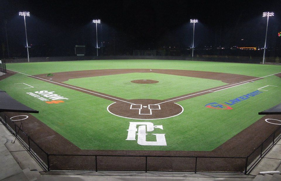Perfect Game complex under the lights   Teams of LakePoint