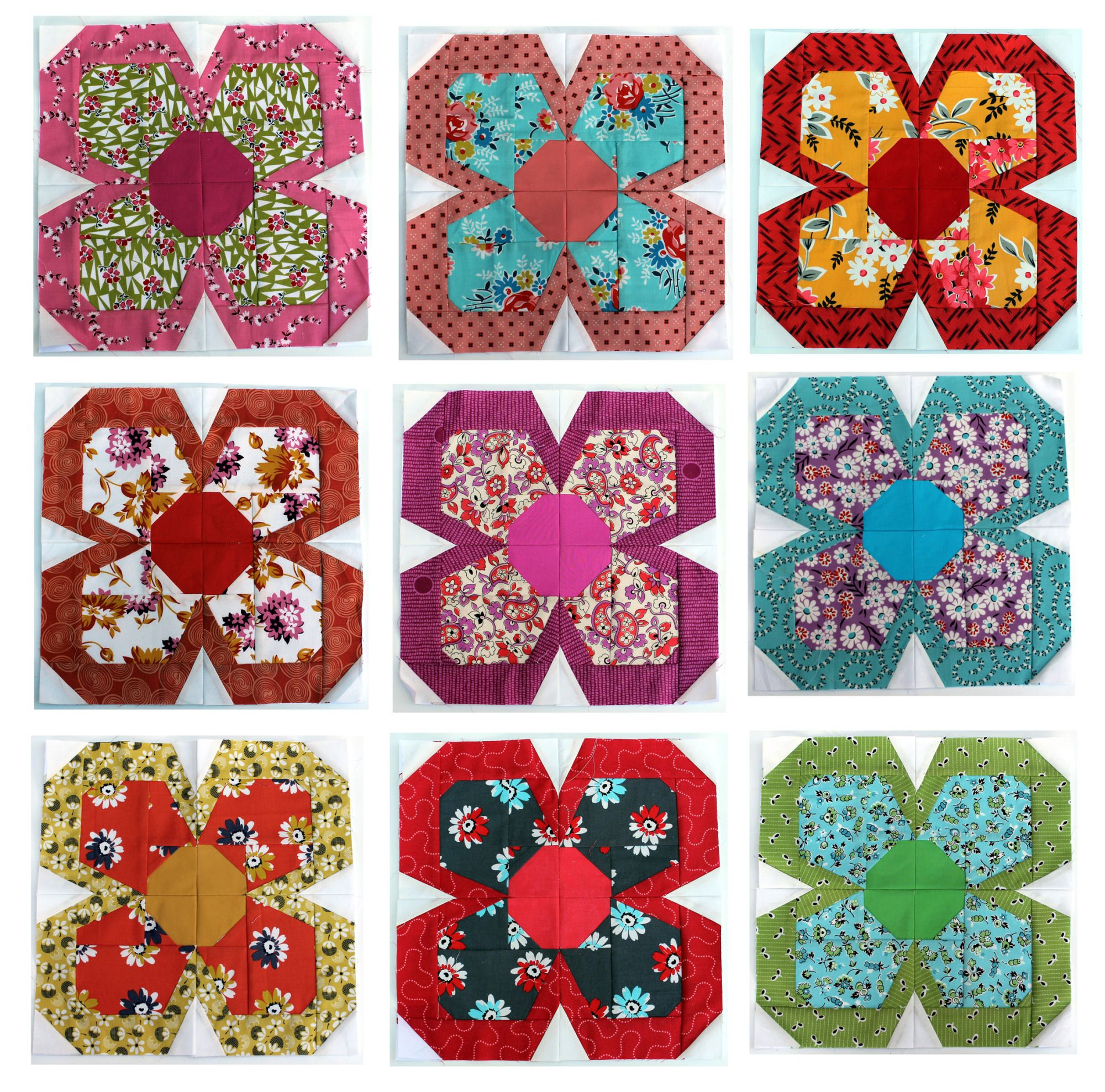 Denyse Schmidt Paper Pieced Flowers Quilts And Fabrics Pinterest