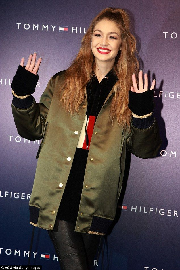 Breakout star: Gigi, who is pictured at a Tommy Hilfiger event in China last week, said sh...