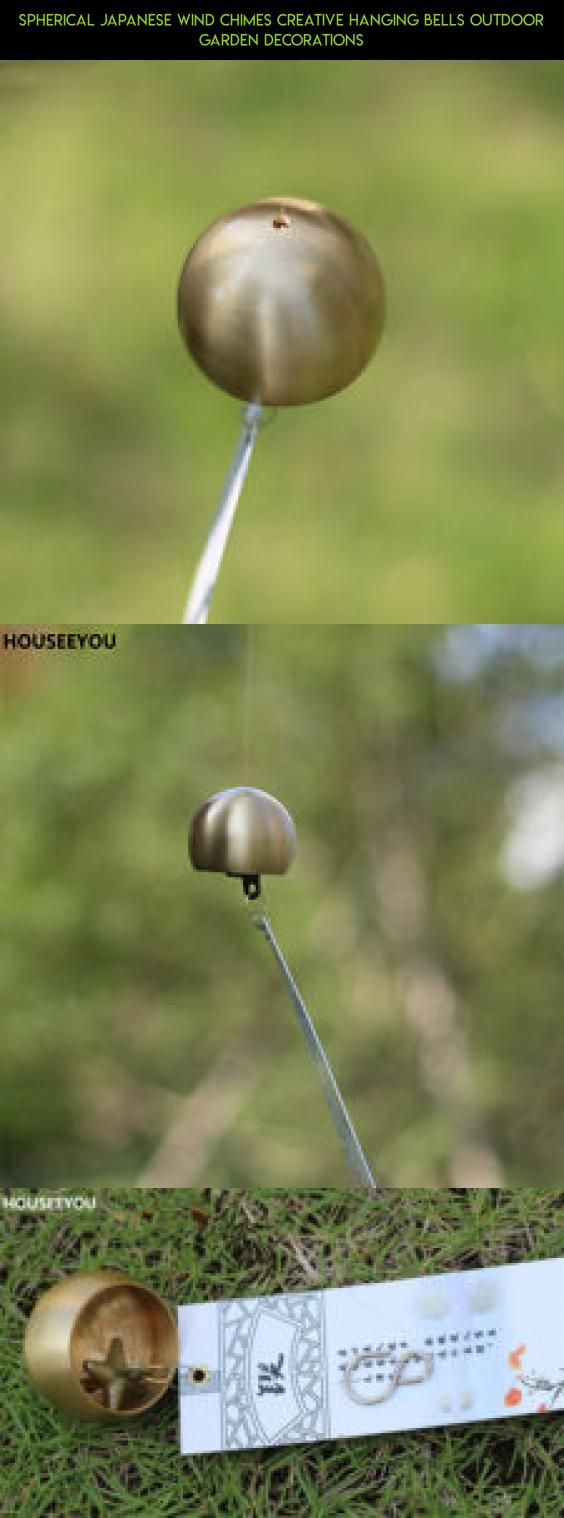 Spherical Japanese Wind Chimes Creative Hanging Bells Outdoor Garden  Decorations #tech #plans #camera
