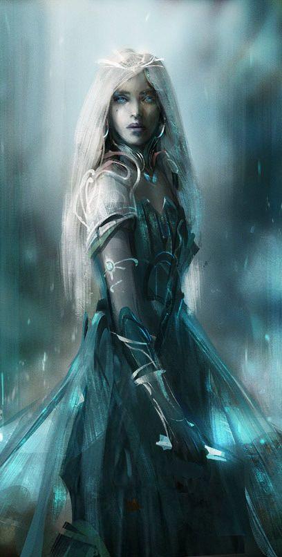 Priestess By Avv Anime Fantasy Art Character Art