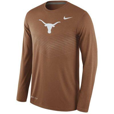 Men's Nike Texas Orange Texas Longhorns 2015 Sideline Dri-FIT Legend Long  Sleeve Performance T
