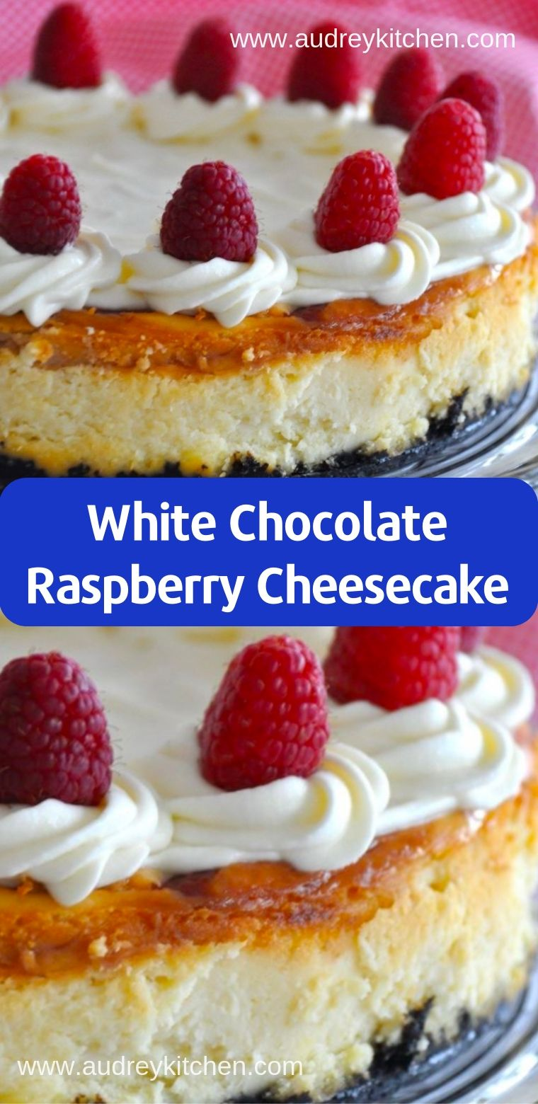White Chocolate Raspberry Cheesecake Recipe ( Desserts, Cakes ) #whitechocolateraspberrycheesecake