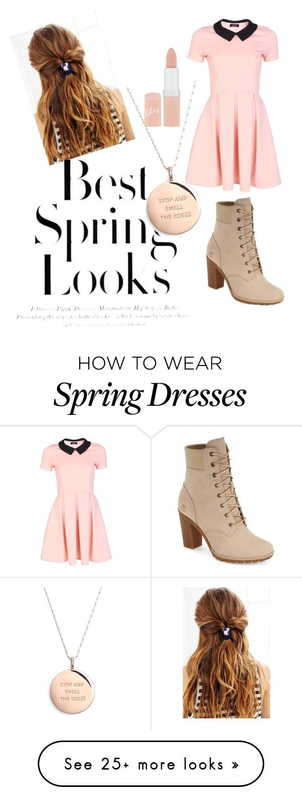 """""""Untitled #3"""" by czd38uup on Polyvore featuring Timberland, Rimmel, H&M and Kate Spade"""