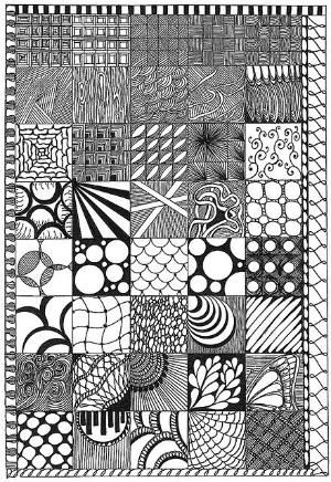 Zentangle Pattern Ideas By Kari Zenstangle Pinterest Drawings Fascinating Zentangle Pattern Ideas