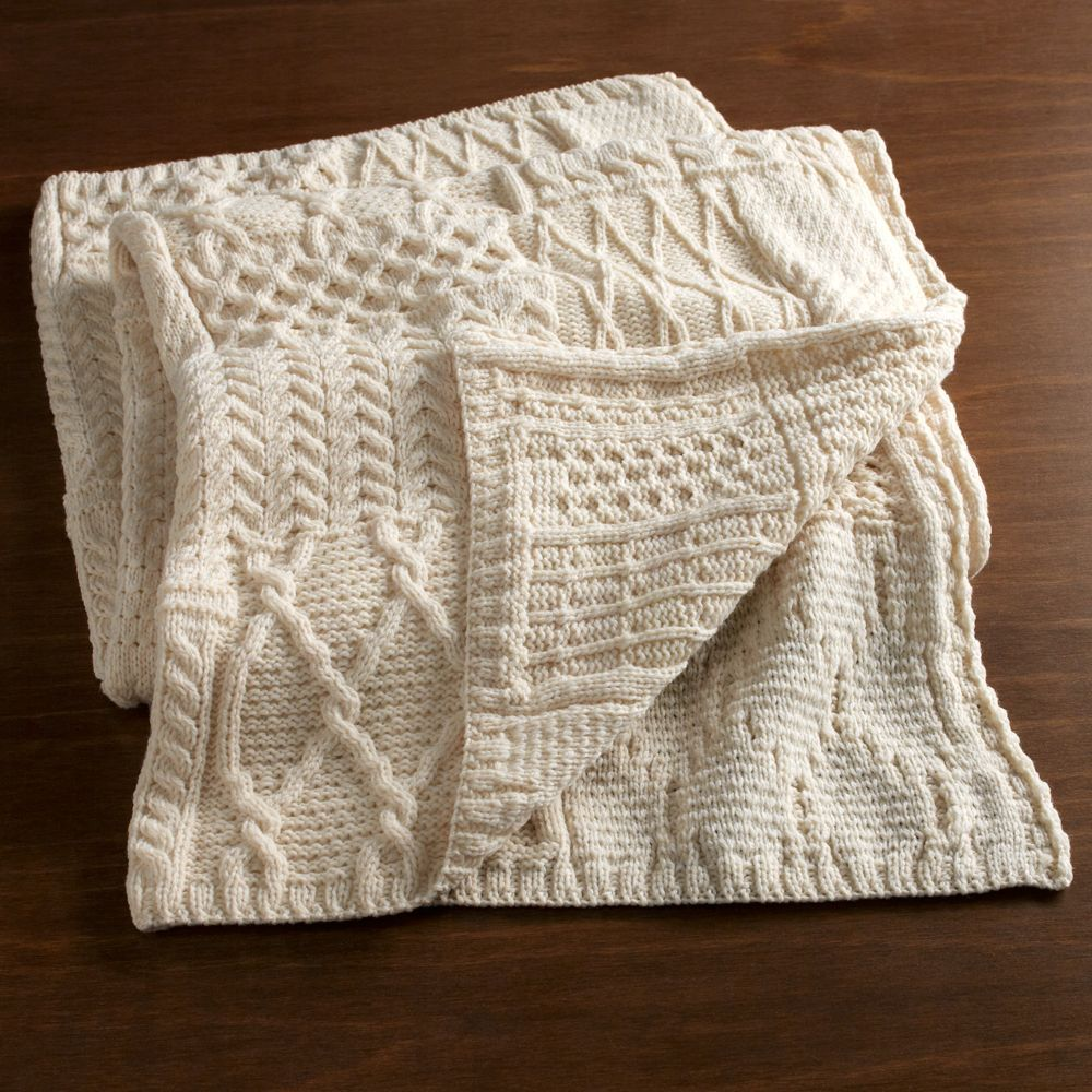 Traditional Irish Aran Throw | Manualidades | Pinterest | Colchas ...