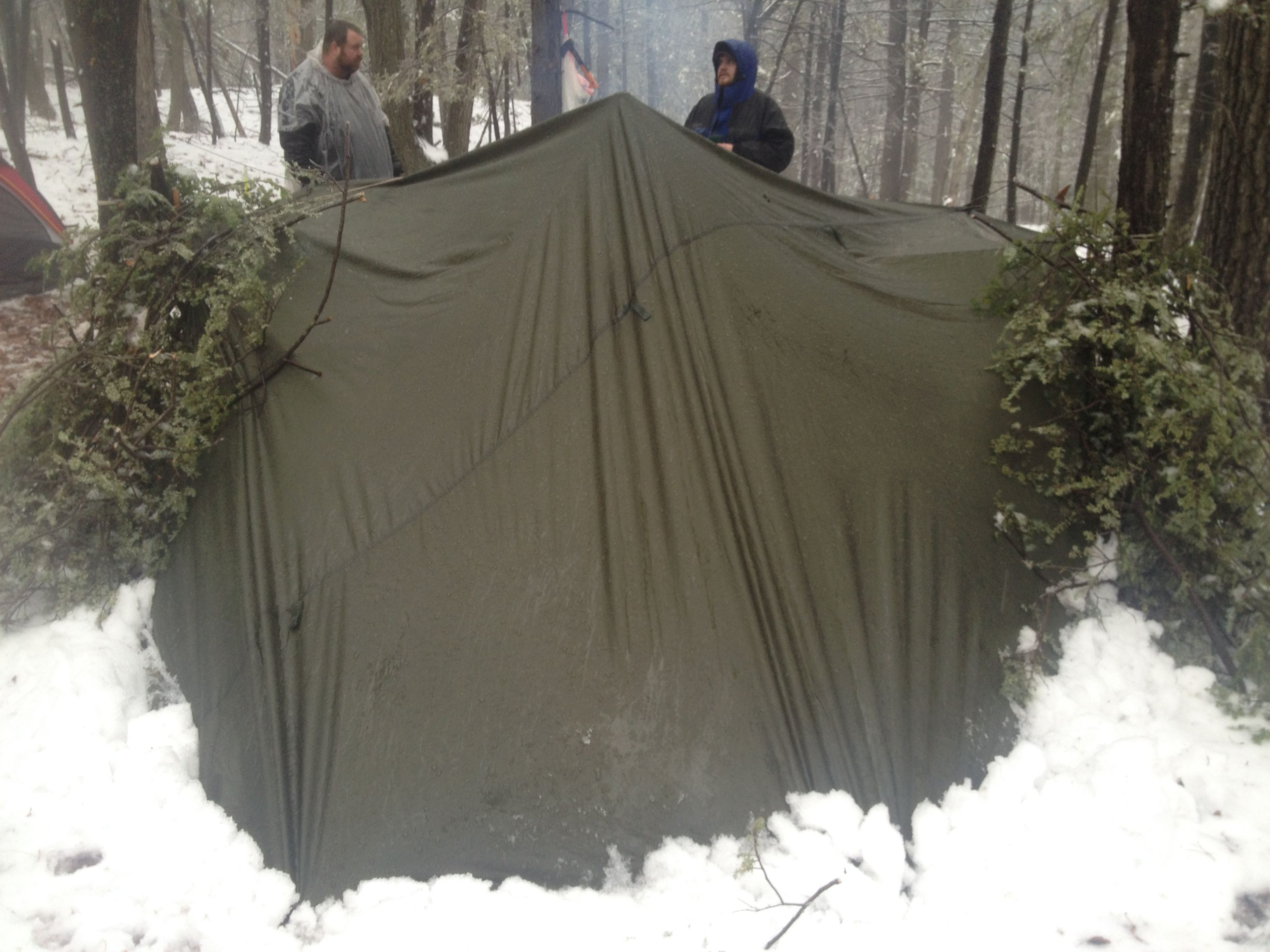 SnugPak All Weather Shelter Review - (Backside of Lean-To Shelter) - Nylon & SnugPak All Weather Shelter Review - (Backside of Lean-To Shelter ...