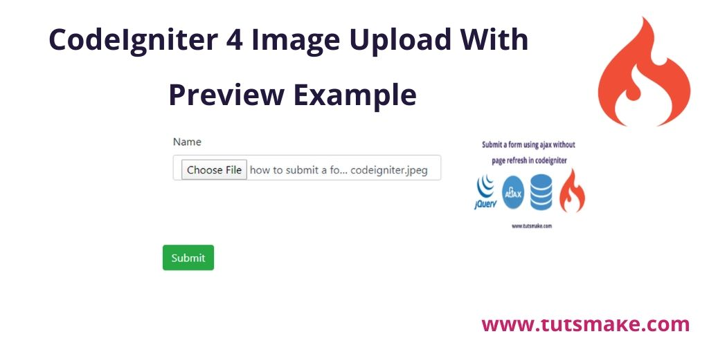 Codeigniter 4 Image Upload With Preview Example In 2020 Image Uploads 4 Images